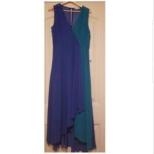 NEW | Calvin Klein | Blue & Teal Chiffon Dress